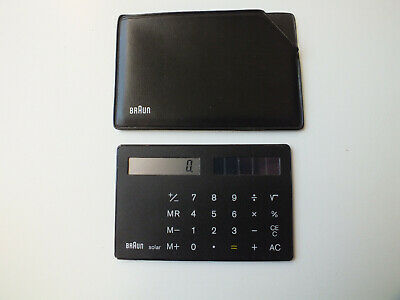 Braun AG Type 4 856 Pocket Credit Card Solar Calculator  • 75£