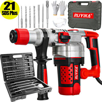 £99.99 • Buy 2000W Electric Rotary Jack Hammer Drill Concrete Breaker 21 SDS Plus Chisel Set