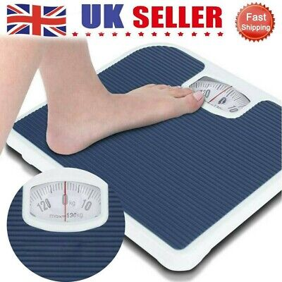 Accurate Mechanical Dial Bathroom Scales Weighing Scale Body Weight Blue UK • 15.09£