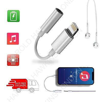£2.98 • Buy Adapter For IPhone To 3.5mm Jack Connector Cable Earphone Aux Iphone 12 11 X XR