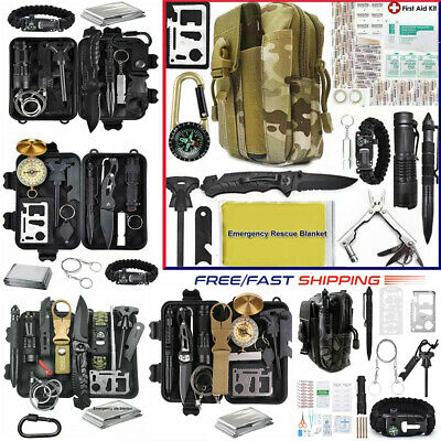 $29.69 • Buy Camping Survival Gear Kit Military Tactical Emergency EDC Outdoor Hiking Molle