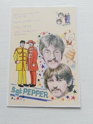 Music Postcard The Beatles Sqt Pepper .limited Edition . • 1.49£