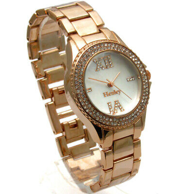 £14.99 • Buy Henley Ladies Diamante Watch – Gold-tone Mother Of Pearl Face - Gift Boxed #435