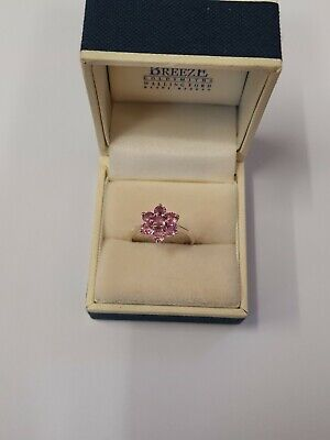 9ct White Gold Pink Sapphires Ring  • 91£