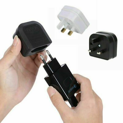 European 2 Pin To UK 3 Pin Plug Adaptor Euro EU Converter Mains Travel UK Stock • 3.59£