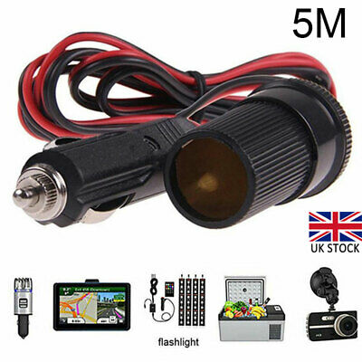 £6.28 • Buy Auto Car Cigarette Cigar Lighter Extension Cable Adapter Socket Charger Cord New