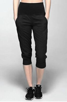 AU90.65 • Buy B0 NWT LULULEMON Black Striped Tapered Fit Relaxed In Flux Crop Pants Size 2 $88