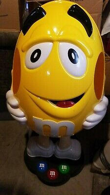 $250 • Buy Yellow Peanut M&M Candy Character Store Display On Wheels 40  Tall
