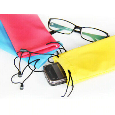 AU2.99 • Buy Microfibre Pouch Bag Sunglass Eyeglass Reading Glasses Case Soft 5 Colours