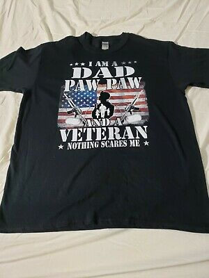 $10.99 • Buy Graphic T-Shirt  I'm A Dad, Paw Paw, And A Veteran  Gildan Brand Large