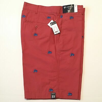 $26 • Buy Cremieux Mens Scooter Embroidered   Red Berry Shorts 9  NWT