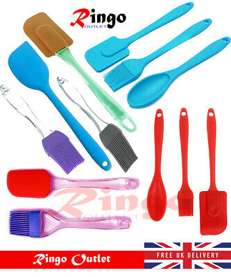 2 Pc Silicone Brush Spatula Set Cookware Bakeware Baking Cooking Basting Pastry  • 2.95£