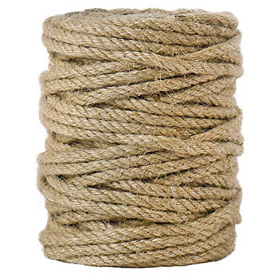 Tenn Well 5mm Jute Twine, 100 Feet 4Ply Twisted Heavy Duty And Thick Twine Rope • 11.47£