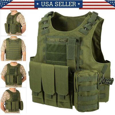 $26.79 • Buy Military Vest Tactical Plate Carrier Holster Molle As-sault Combat Gear US R6X6