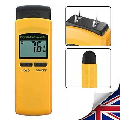 Moisture Meter 4 Pin Digital Moisture Meter Damp Detector Humidity Wood Plaster • 13.12£