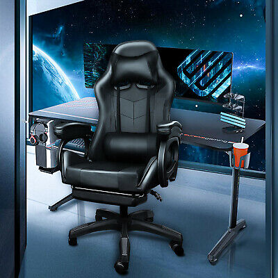 AU149.88 • Buy Gaming Chair Office Computer Seating Racing PU Executive Massage Racer Recliner