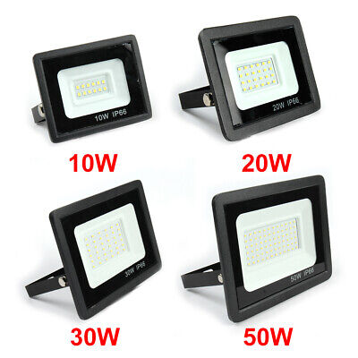 Outdoor Security LED Floodlight 10W-50W Super Bright Spotlight Garden Waterproof • 9.35£