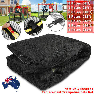 AU36.98 • Buy AUS Replacement Trampoline Safety Pole Net Round Spare Part  6/8 Pole 8/10/14ft