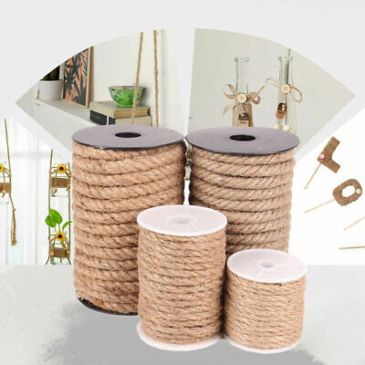 10m Natural Jute Burlap Hemp Twine String Cord Rope For Arts Craft Gift DIY UK • 4.57£