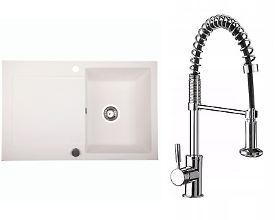 £163.99 • Buy Kitchen Granite Sink With Kubo Faucet And Waste Set | Desert | 78cm X 50 Cm