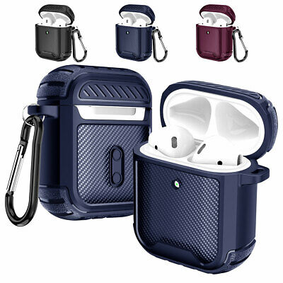 AU10.36 • Buy For Apple AirPods Pro / 1st / 2nd Gen Full Body Slim Rubber Keychain Case Cover