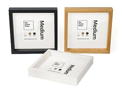 New Square Deep Shadow Box Photo Picture Frame 25x25cm Scrabble Display 3D • 9£