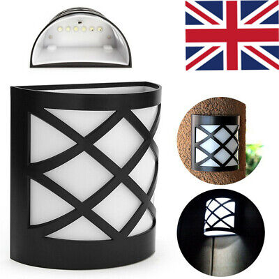 £9.83 • Buy Solar Powered Fence Step Door Wall Light Outdoor Garden Shed Path Courtyard Lamp