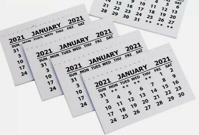 £0.99 • Buy 2021 Mini Calendar Tab Pads Tear Off Sheets Month To View X 2 Pads  XMAS