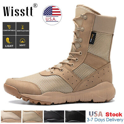 $39.97 • Buy Men's High Top Military Tactical Army Work Boots Desert Hiking Combat Shoes Size