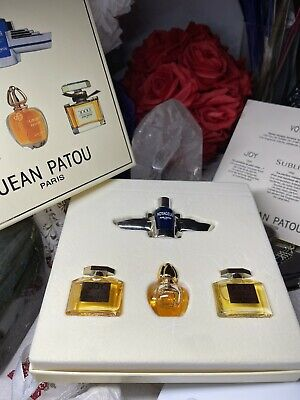 Jean Patou Paris Coffret 4 Miniatures Parfums Joy 1000 Sublime Voyageur • 24.94£