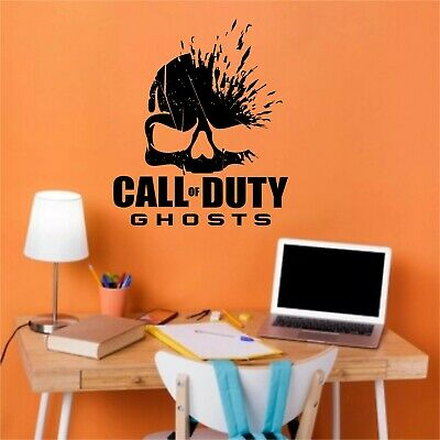 £9.99 • Buy Ghosts Call Of Duty  Wall Art Stickers Decor Gaming Room Any Color.