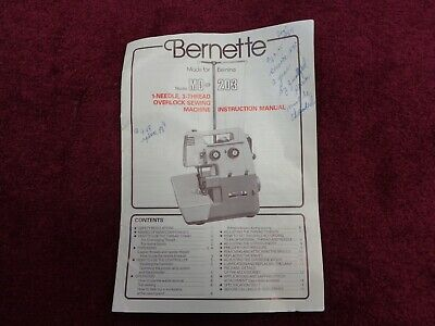 $24.95 • Buy Bernina Bernette MO-203 Serger Instruction Book Guide Manual