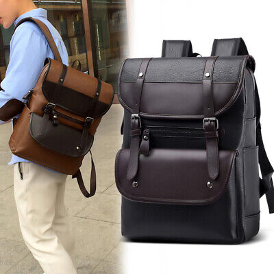 AU39 • Buy Large Capacity PU Backpack Wear-resistant Men's Travel Business Computer Bag AU