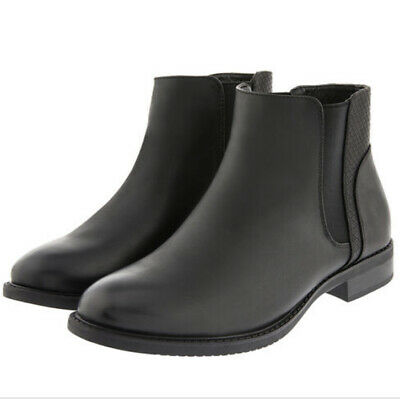 Brand New Accessorize Black Faux Leather Croc Chelsea Boots In Size: UK 6. • 0.99£