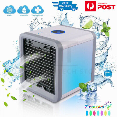 AU25.95 • Buy Portable Mini Air Cooler Fan LED Air Conditioner Cooling Fan Humidifier AU STOCK