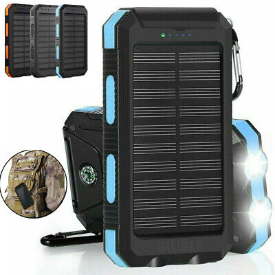 AU29.99 • Buy 900000mAh Solar Panel 2USB 2LED Battery Power Bank Pack Charger For Mobile Phone