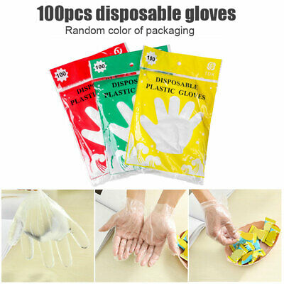 AU8.57 • Buy 100pcs Disposable Gloves Vinyl Powder Free/ Powdered Food Safe Protective Glove