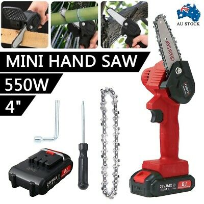 AU72.99 • Buy 4'' Handheld Cordless Electric Chainsaw Saw Garden Wood Cutter Rechargeable Set