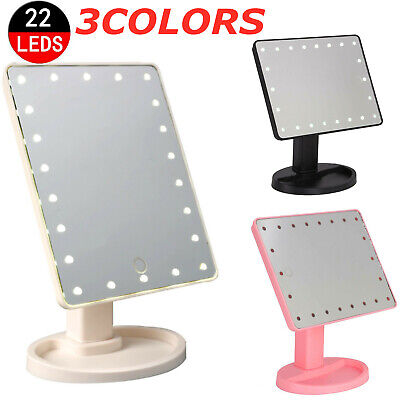 22 Led Cosmetic Make Up Mirror Tabletop Vanity Touch Screen Mirror Bathroom • 6.99£