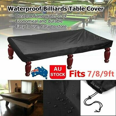 AU32.88 • Buy 🔥 7/8/9FT Outdoor Pool Snooker Billiard Table Cover Polyester Waterproof Fabric