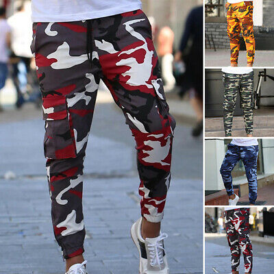 £14.99 • Buy Mens Camo Joggers Sweat Pants Slim Fit Tracksuit Bottoms Casual Jogging Trousers