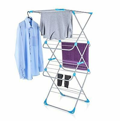 Easy Loading Indoor Airer With 18 M Drying Space - Metal, White Clotheshorse  • 45.99£