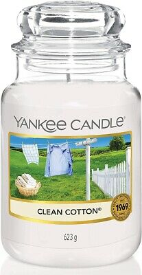 Yankee Candle Clean Cotton Large Jar 623g BRAND NEW * 100% GENUINE * • 10.99£