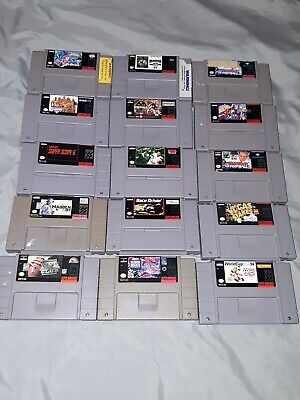 $ CDN57.02 • Buy Lot Of 15 Snes Super Nintendo Sports Games! Free Shipping!