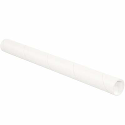 $60.03 • Buy Mailing Tubes With Caps, 2  X 15 , White, 50/Case