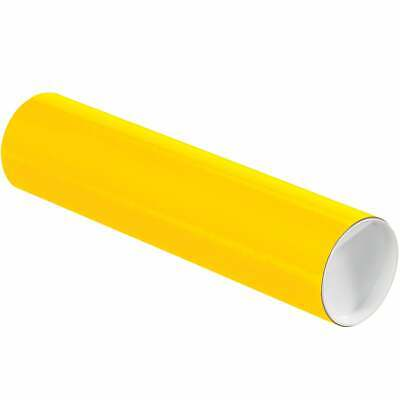 $64.77 • Buy Mailing Tubes With Caps, 3  X 12 , Yellow, 24/Case