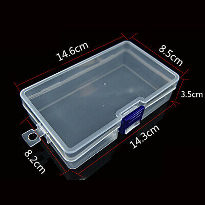 £4.28 • Buy Plastic Clear Case Storage Box Collection Organizer For Storing Bank Cards