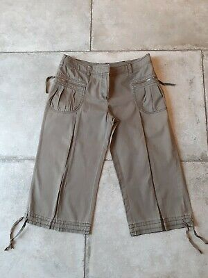 Womens Khaki Green Cropped Wide Leg Trousers - Size 14 - Topshop - Immac Cond ! • 5.99£