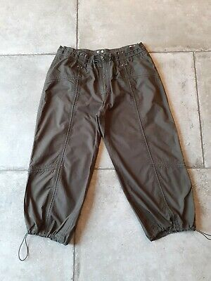Womens Khaki Green Cropped Trousers - Size 14 Petite - Next - Immaculate Cond ! • 5.99£