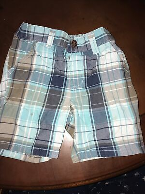 Boys Next Blue Checked Shorts Age 3-4 Years • 1£